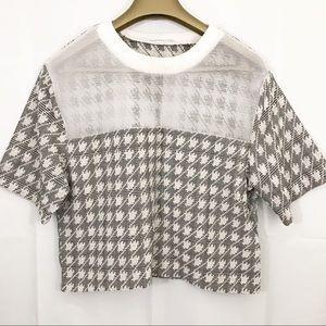 Endless Rose Shirt Short Sleeves Crop Mesh Front